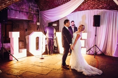 Polhawn Fort Weddings - Letter Lights