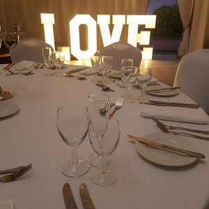 South West Letter Lights at Elfordleigh Weddings