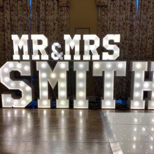 2ft Mr & Mrs Letter Lights