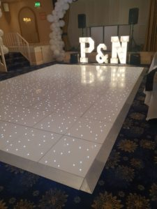 Sparkling Dance Floor by Wedding Hires