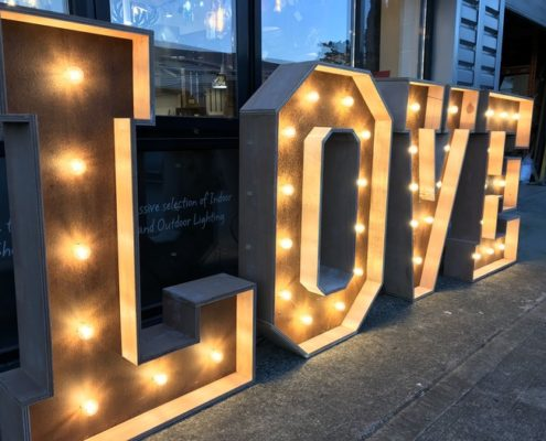 Rustic Letter Lights