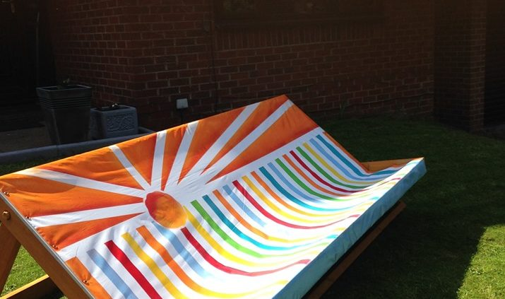 8ft wide deck chair hire