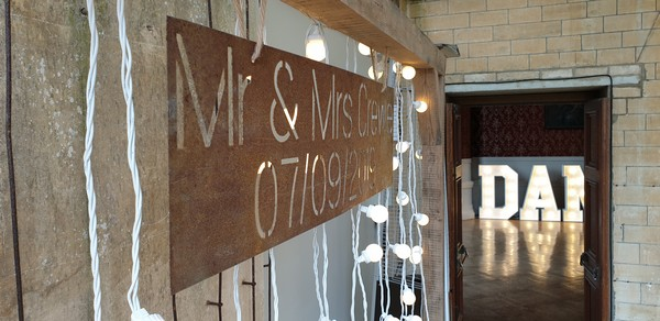 Personalised Metal Plate with our Oak Archway