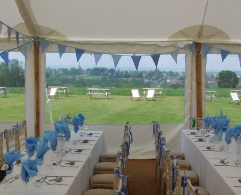 Bench Tables in our Traditional Marquee Packages